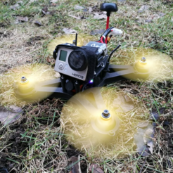 Download free STL file OpenRC 220 FPV Mini Quad • 3D print object, DanielNoree