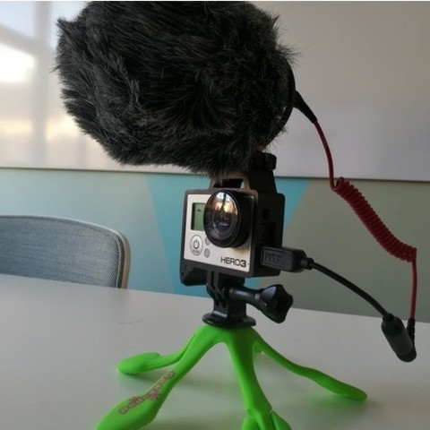 GoPro Hero Frame w Hot Shoe Mount4.jpg Download free STL file GoPro Hero Frame w Hot Shoe Mount • 3D printer object, DanielNoree