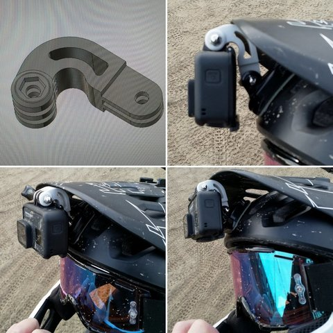 Free 3D printer files Curved GoPro Bracket, DanielNoree