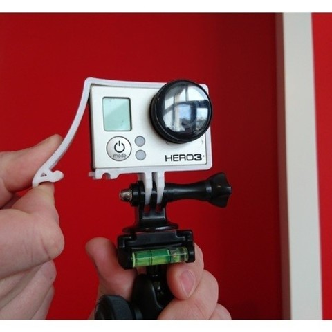 Free Quick Release GoPro Hero Frame 3D model, DanielNoree