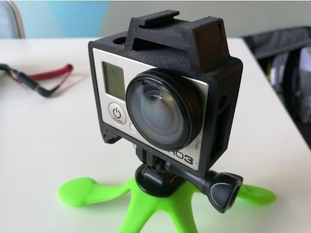 58d9d896cbde3e733c94999c8621b655_preview_featured.jpg Télécharger fichier STL gratuit GoPro Hero Frame w Hot Shoe Mount • Design pour impression 3D, DanielNoree