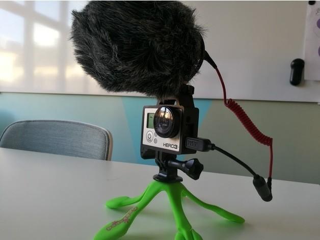 efe96f07f1bbcde8c4a43e59550b9684_preview_featured.jpg Télécharger fichier STL gratuit GoPro Hero Frame w Hot Shoe Mount • Design pour impression 3D, DanielNoree