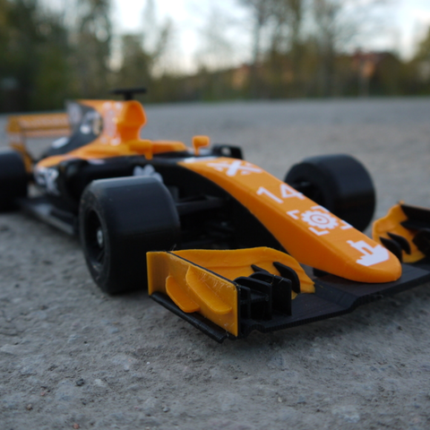 OpenRC F1 Dual Color McLaren Edition 3D Printing Free STL file Cults11.png Download free STL file OpenRC F1 Dual Color McLaren Edition • 3D printer model, DanielNoree