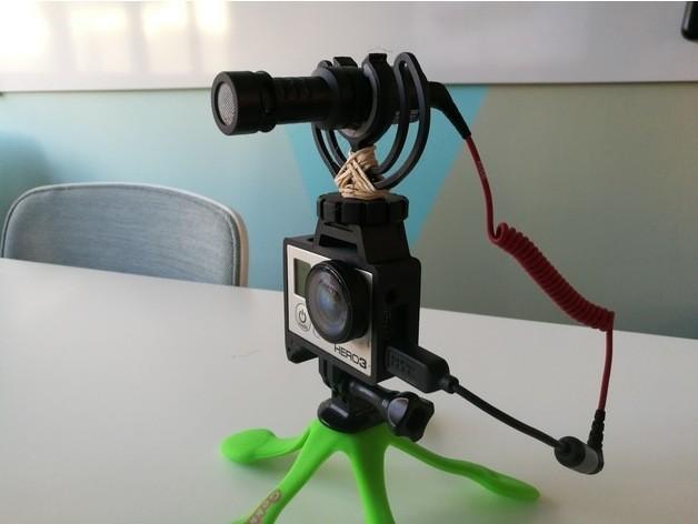 GoPro Hero Frame w Hot Shoe Mount5.jpg Download free STL file GoPro Hero Frame w Hot Shoe Mount • 3D printer object, DanielNoree