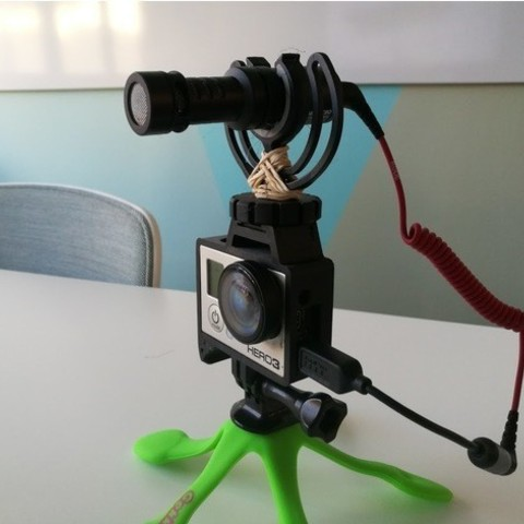 Free 3d printer files GoPro Hero Frame w Hot Shoe Mount, DanielNoree