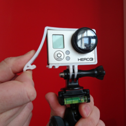 Free 3D print files Quick Release GoPro Hero Frame, DanielNoree