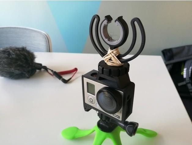 GoPro Hero Frame w Hot Shoe Mount2.jpg Download free STL file GoPro Hero Frame w Hot Shoe Mount • 3D printer object, DanielNoree
