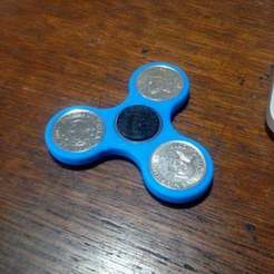 IMG_1962.jpg Download free STL file Coin Fidget Spinner (Philippine 1 Peso coins) • Template to 3D print, boksbox