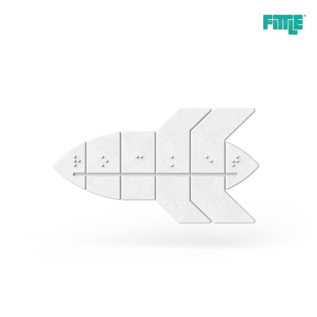 29137066_1947341601965858_7216087906786476032_o.jpg Download free STL file Rocket Fittle Puzzle • 3D printer design, Fittle