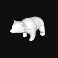 Download free 3D model Bear Fittle Puzzle, Fittle