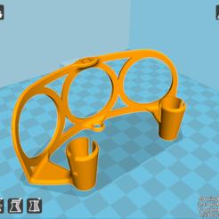 Télécharger fichier imprimante 3D Support Mural Casque Audio v1, HerveDigeos