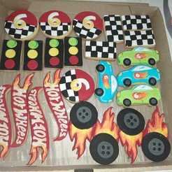 Download 3D print files HotWheels Cookies Cutter logo, abauerenator
