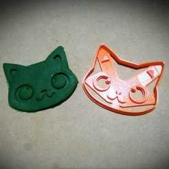 3d model Cat Face cookie cutter, abauerenator