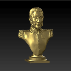 Download 3D printer model Bust of General José de San Martín, abauerenator