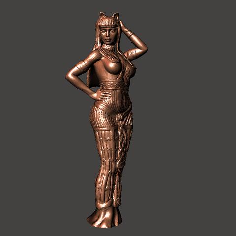 1.png Download STL file Egipcia Diosa Bast, Bast goddess  • 3D printable model, abauerenator