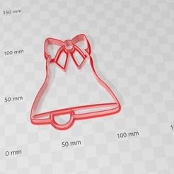 campana.jpg Télécharger fichier STL Coupe-biscuits de Noël de Bell • Design à imprimer en 3D, abauerenator
