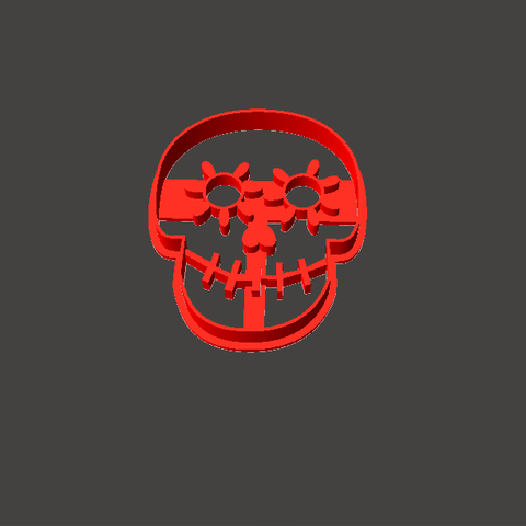 coco1.png Download STL file Coconut Skull Kit Cookies cutter • 3D printable object, abauerenator