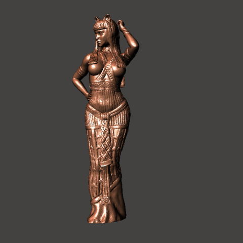 2.png Download STL file Egipcia Diosa Bast, Bast goddess  • 3D printable model, abauerenator