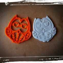 Objet 3D coupe-biscuits buho, coupe-biscuits hibou, abauerenator