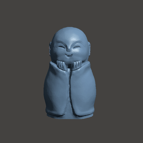happy.png Download STL file Jizo Statue - hands to face • Object to 3D print, abauerenator