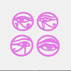 3D printer models Aros ojos, earrings, abauerenator