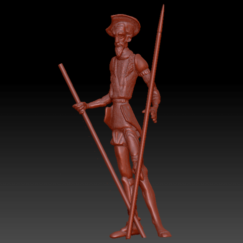 Download 3D printing templates Don Quixote of the Sculpture stain, abauerenator