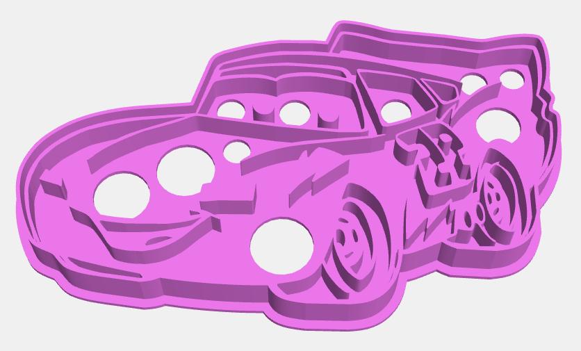 rayo Cortante.png Download STL file cookies cutter Rayo McQueen, Cortante de Galletas  Rayo McQueen • Model to 3D print, abauerenator