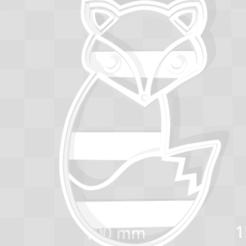 3D printer files Fox  cookie cutter, cortante de galletas zorro, abauerenator