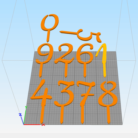 3D print model Numbers Cake toppers, abauerenator