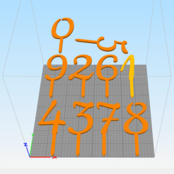 Download STL files Numbers Cake toppers, abauerenator