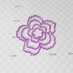 peonia.jpg Download STL file Peony flower flower cookies cutters • 3D printable design, abauerenator