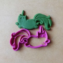 3d printer designs Unicorn Cat cookie cutter, abauerenator