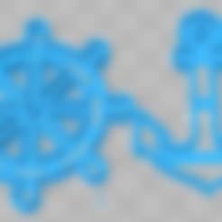 cortante timon.stl Download STL file cortante galletas ancla y timon, cookies cutter anchor and  rudder • 3D printer object, abauerenator