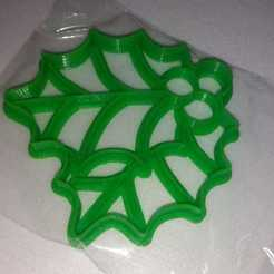 WhatsApp Image 2019-12-07 at 13.32.14.jpeg Download STL file Muerdago Christmas leaves cookies cutters • 3D printing object, abauerenator