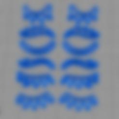 PestañasUnicornios.stl Download STL file Pestañas Unicornios cortante de galletas • 3D printer object, abauerenator