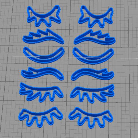 pestañas.png Download STL file Pestañas Unicornios cortante de galletas • 3D printer object, abauerenator