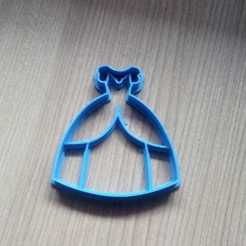 Descargar archivo 3D  princess dress cookies cutter - vestido princesa cortante galletas, abauerenator