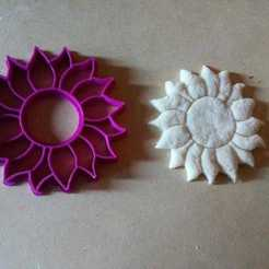 3d model Sunflower Cookie Cutter, Sunflower cookie cutter, abauerenator