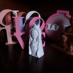 Download 3D printer model Virgen Porfis, Virgencita Plis, abauerenator
