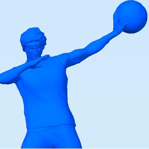 basquetballplayer4.png Download STL file Basquet Ball player Posed • 3D print model, abauerenator