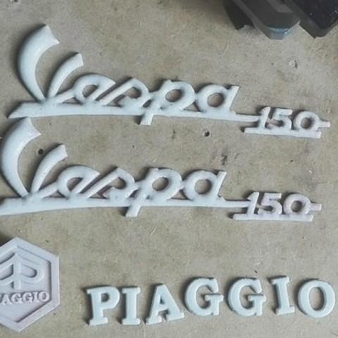16174642_1034300220008101_393018892646664358_n.jpg Download STL file Piaggio Vespa Emblems • 3D printable design, abauerenator