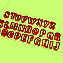 STL file Alphabet letters, Alphabet cookies cutter ATMA BOLD, abauerenator