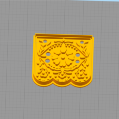 Download 3D printer designs Mexican flag cookies cutter, abauerenator