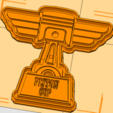 Copa Piston Cortante.png Download STL file Piston Cup cookie cutter, Cortante de Galletas de la copa piston • Template to 3D print, abauerenator