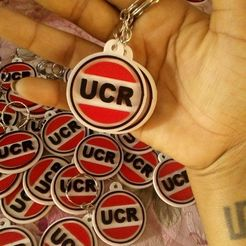 3D printing model Key ring UCR, abauerenator