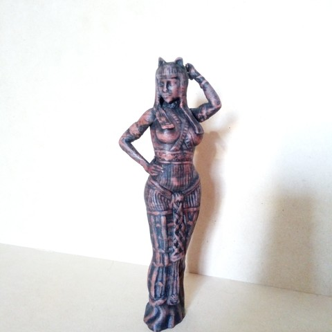 IMG_20180803_164501.jpg Download STL file Egipcia Diosa Bast, Bast goddess  • 3D printable model, abauerenator