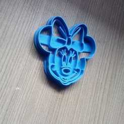 3D printer files Minnie Mouse face cookies cutter, abauerenator
