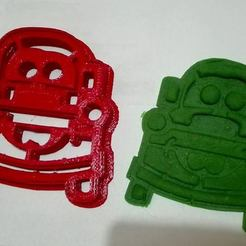 Modèle 3D Cookies Cutter, Mate Cars, Cortante de Galletas Mate Cars, Cortante de Galletas Mate Cars, abauerenator