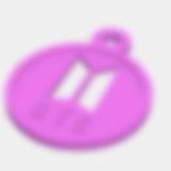STL file BTS Logo keychain, Llavero logo BTS, abauerenator