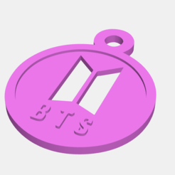 Download 3D printer designs BTS Logo keychain, Llavero logo BTS, abauerenator